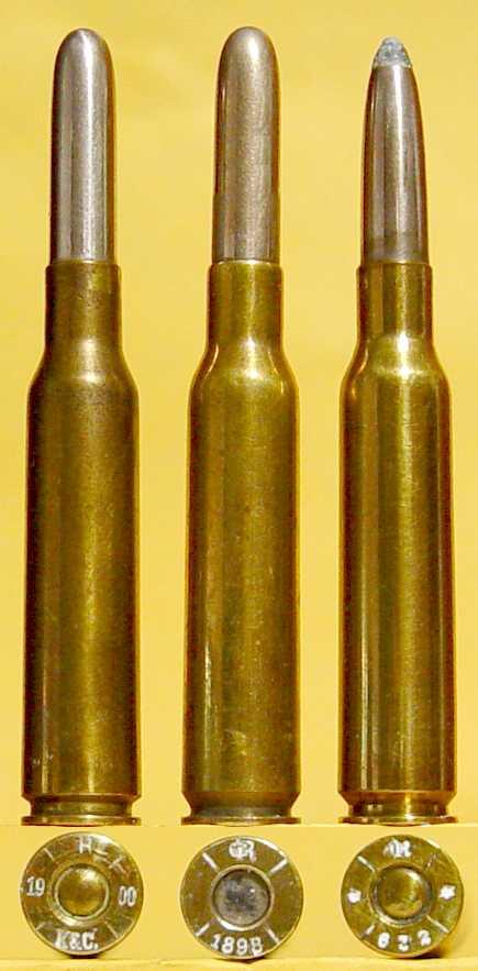 Early 6 5 x 54 Mannlicher-Schonauer cartridges - General Ammunition